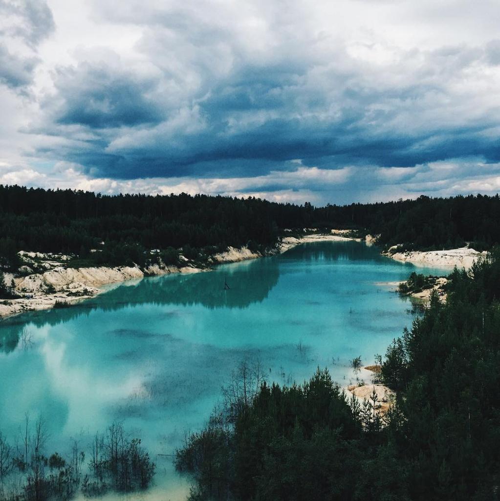 голубое озеро на урале фото предыдущем случае